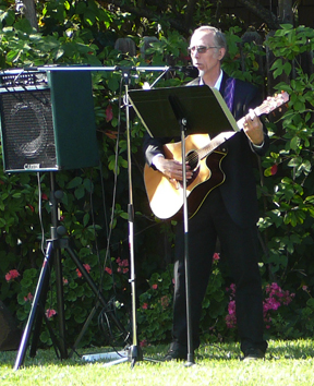 Marshal playing a wedding