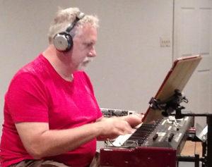 Ken at the keyboard - fulfilling my vision of a B3 organ sound