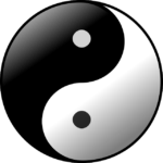 lightness in dark and darkness in light of the yin yang symbol