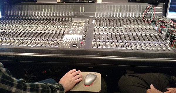 studio mixdown board